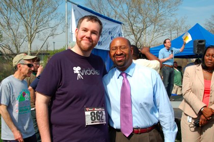 Scott with Mayor Nutter
