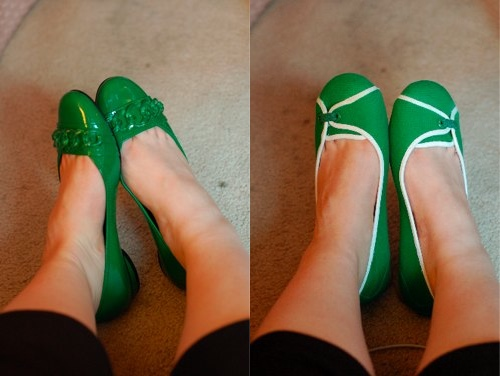 green-shoes